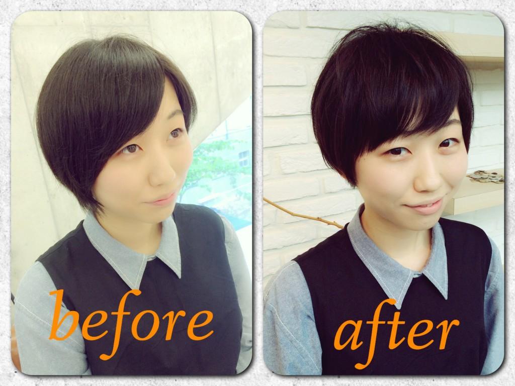 これなら夏らしい☆黒髪カットでもすっきりかわいいショートヘア