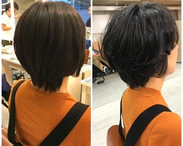 【硬くて直毛で黒髪】ふわっとショートヘアにはパーマが必須!