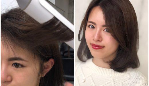 【超簡単コテ巻き】センターパートの前髪をきれいに流す方法