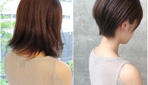 頭や顔を小さくするためには髪で隠しすぎないショートヘアに!